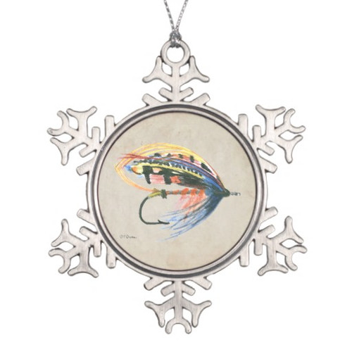 Salmon fly lure ornament