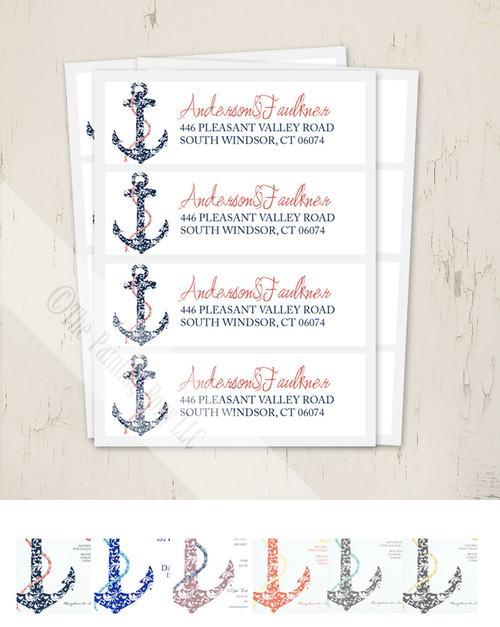 Ship Anchor Return Address Labels