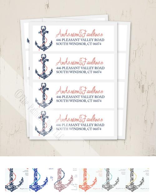 Ship Anchor Return Address Labels