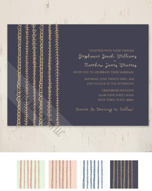 Artistic Wedding Invite