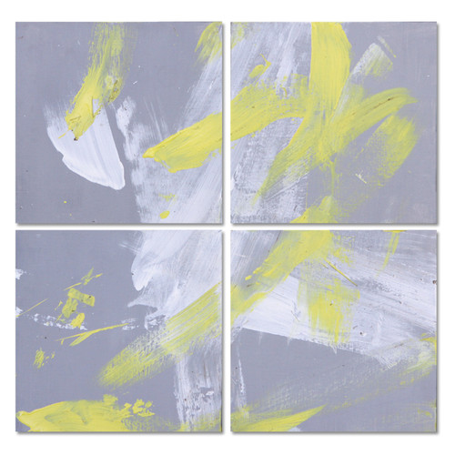 Yellow and Grey Abstract Painting Collection