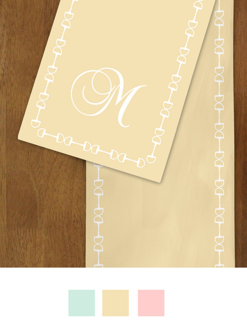Horse Bits and Monogram Spring Table Runner