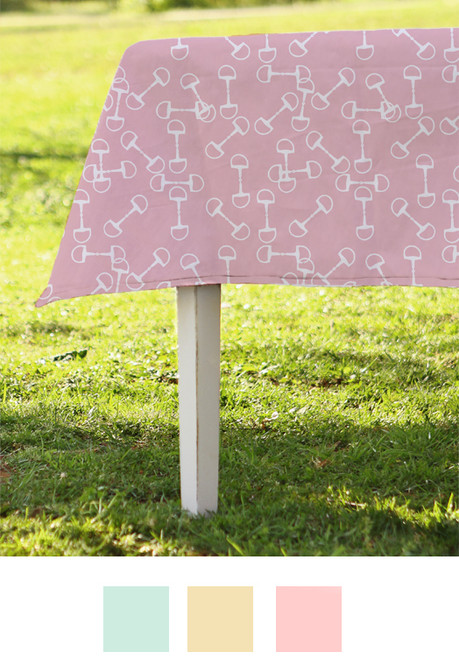 Horse Bits Pattern Spring Equestrian Table Cloth