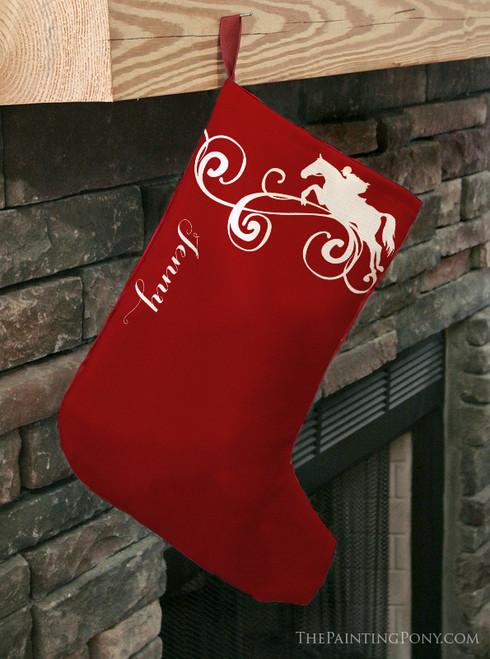 Jumping Horse Christmas Stocking