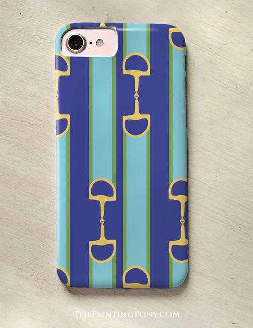 Equestrian Ribbon Bit Pattern Phone Case