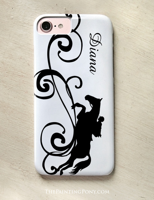 Custom Jumping Horse Phone Case