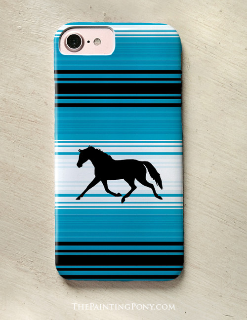 Trotting Pony Serape Pattern Phone Case