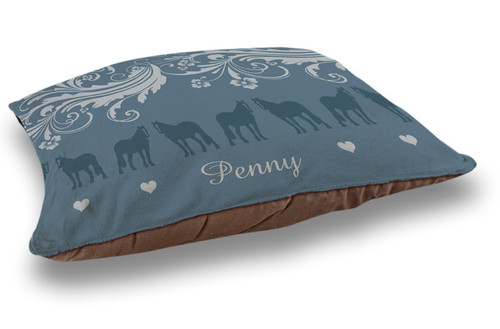 Personalized Equestrian Dog Bed