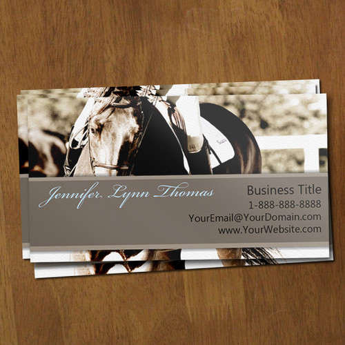 Show Horse Equestrian calling or business profile card