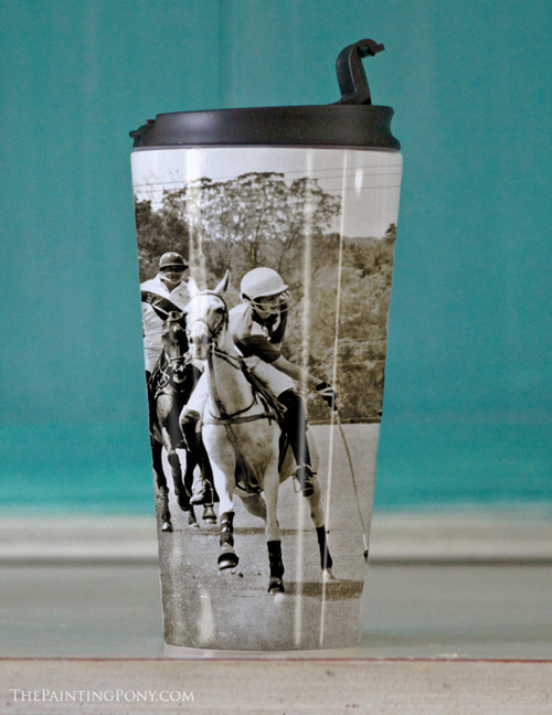 Polo Horses Travel Tumbler 15oz
