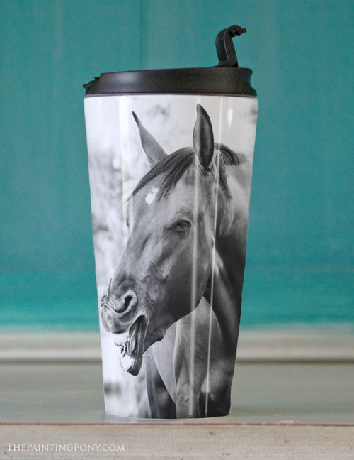 Funny Horse Travel Tumbler 15oz