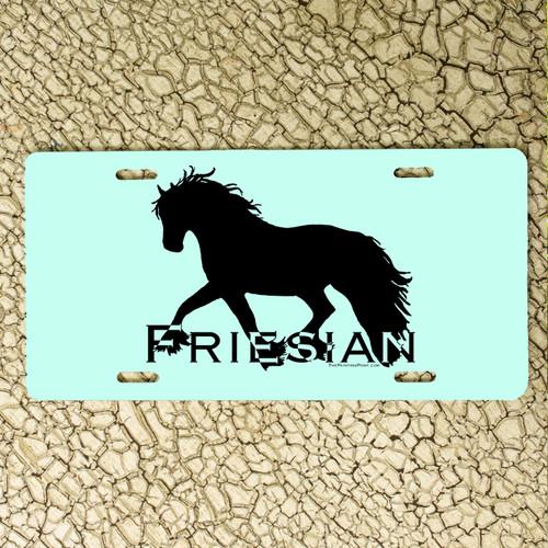 Friesian Horse License Plate
