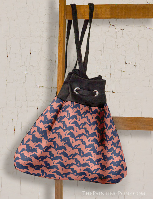 Horse Head Houndstooth Pattern Sling Bag