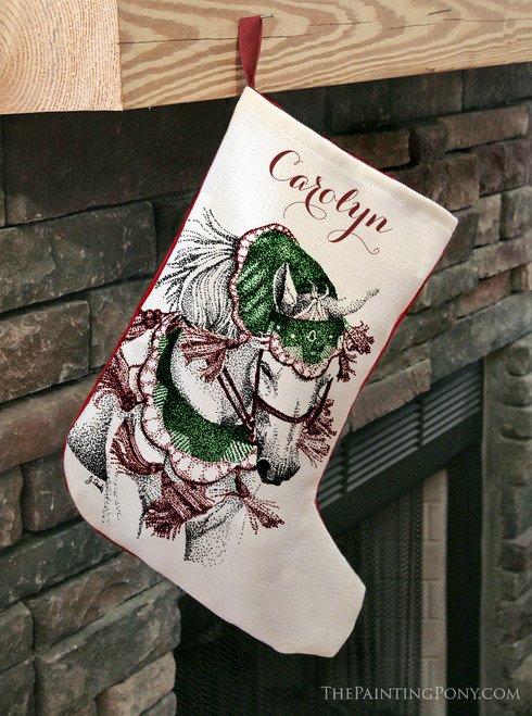 Arabian Horse Christmas Stocking