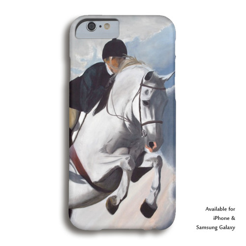 Hunter Jumper horse or pony equestrian cell phone case for samsung galaxy or Iphone.