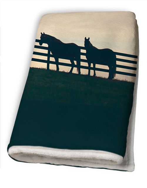 Horses at the Fence Country Bath Towel