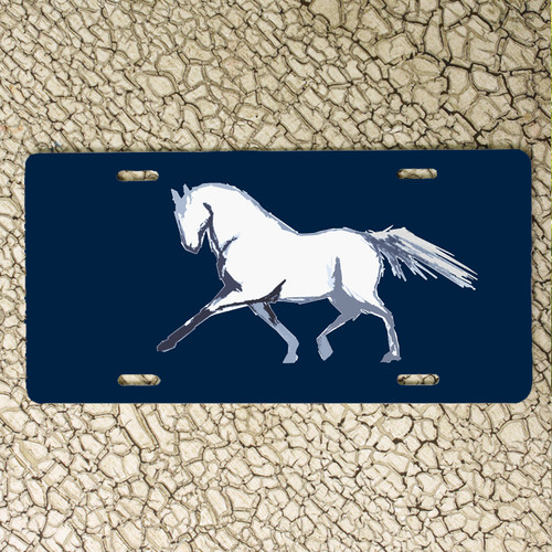 Extended Trot Dressage Horse Vanity License Plate for the horse lover's car.