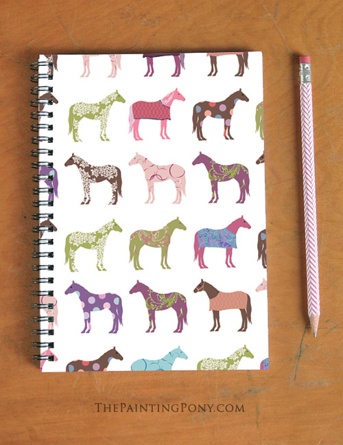 Fun Horse Pattern Spiral Notebook