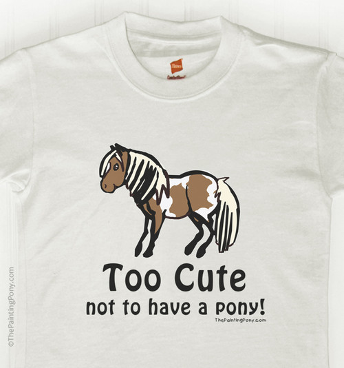 Too Cute Pony Kid's Tee Shirt