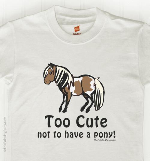 Too Cute Pony Kid's Tee Shirt