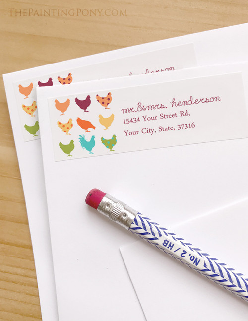 Crazy Chickens Return Address Labels