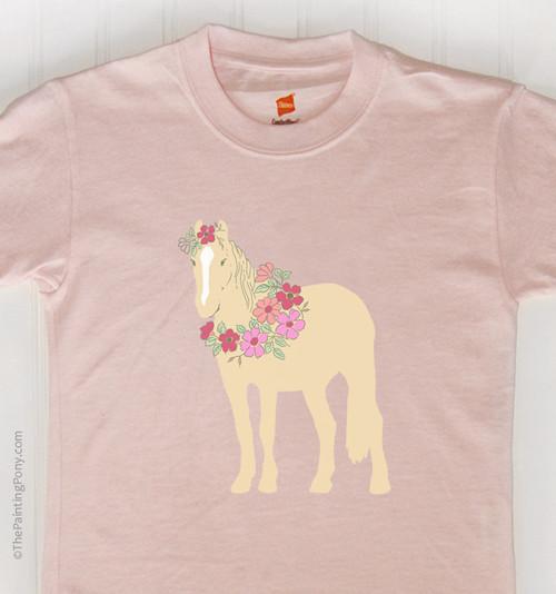 Flower Pony Kids Tee Shirt