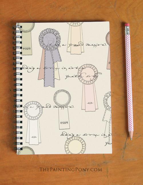 Horse Show Ribbon Pattern Spiral Notebook