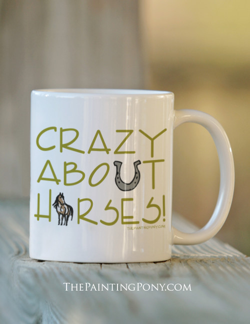 Crazy About Horses Ceramic Mug