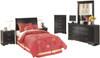 Paris Black Headboard Youth Bedroom Set