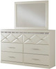 Rizvon Champagne Headboard Bedroom Set