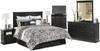 Lucia Black Headboard Bedroom Set