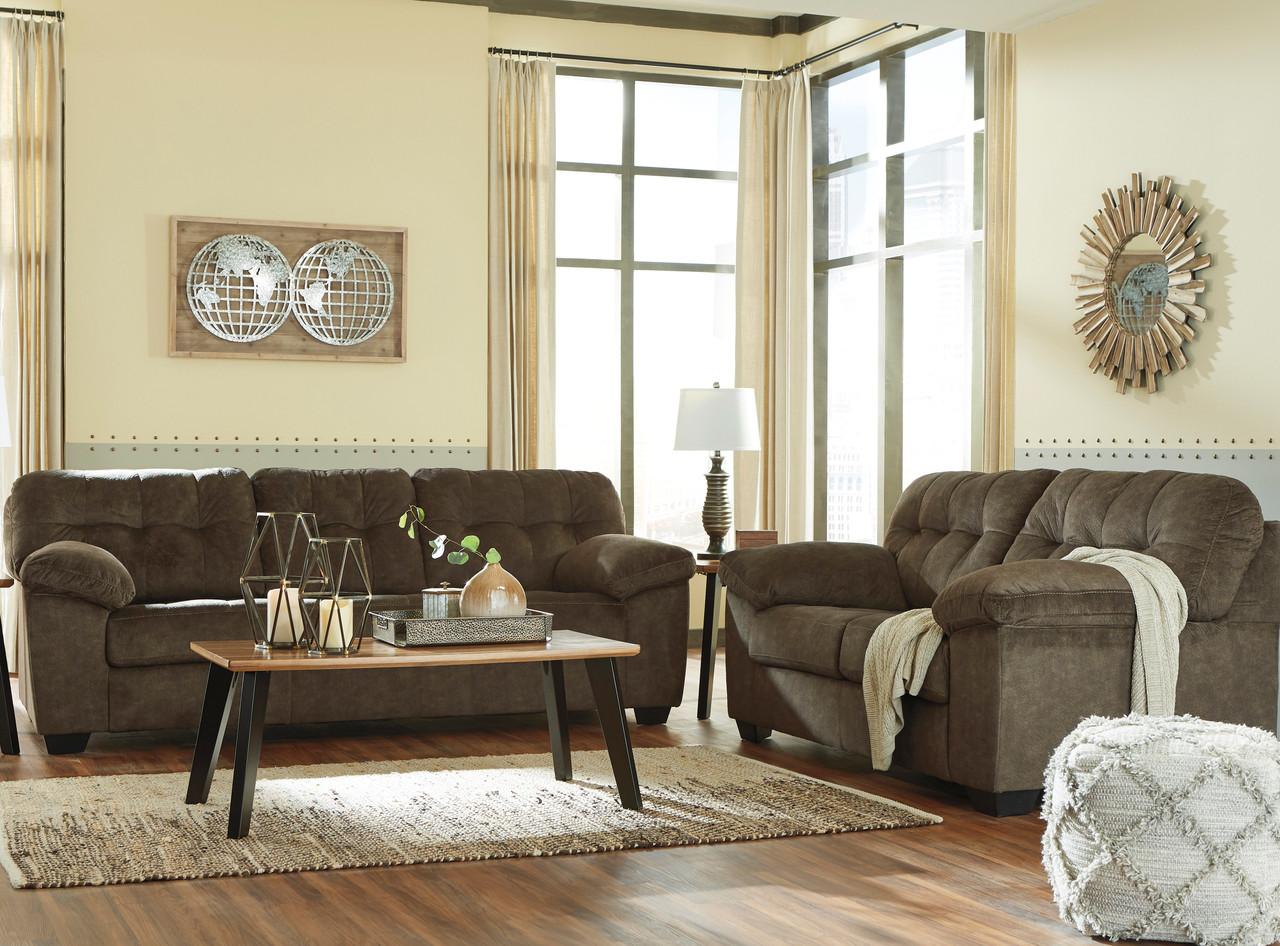 Alven Brown Sofa & Loveseat - CB Furniture