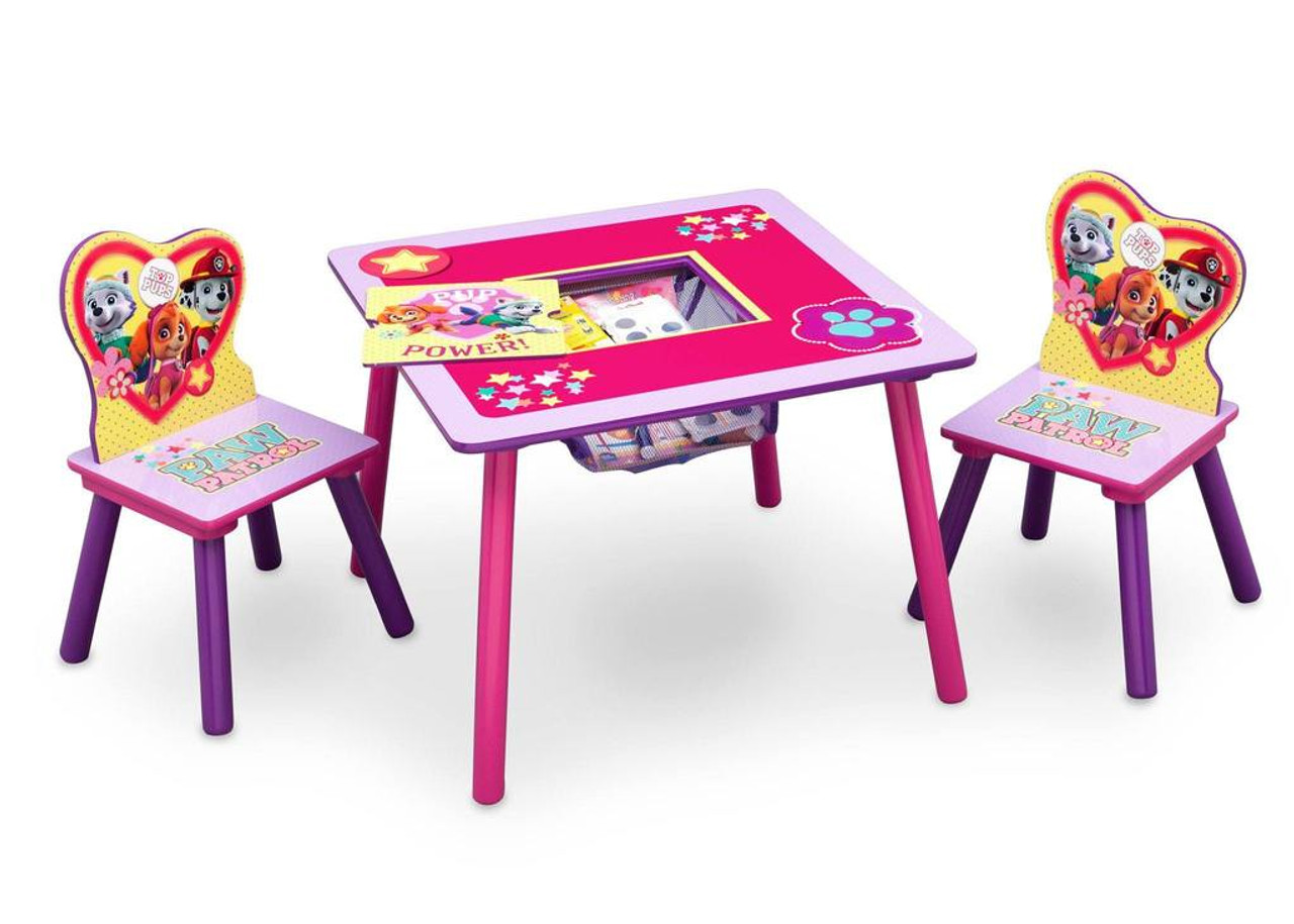 PAW Patrol, Skye & Everest Table & Chair Set with Storage - CB Furniture