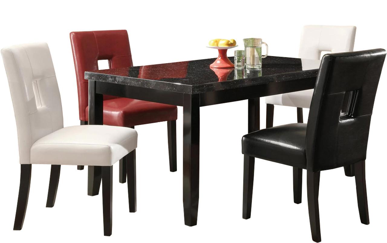 Delightful Mirage Black 5 Piece Dining Set ...