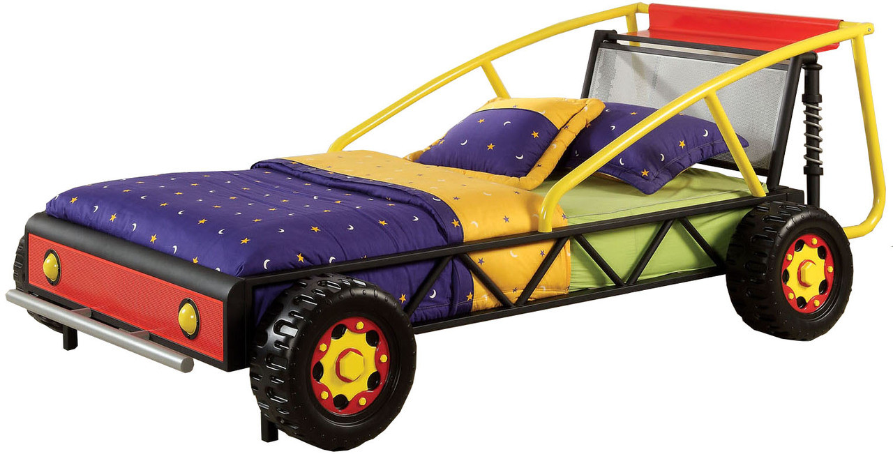 Race Car Bed Part - 23: Aaron Red U0026 Yellow Race Car Bed