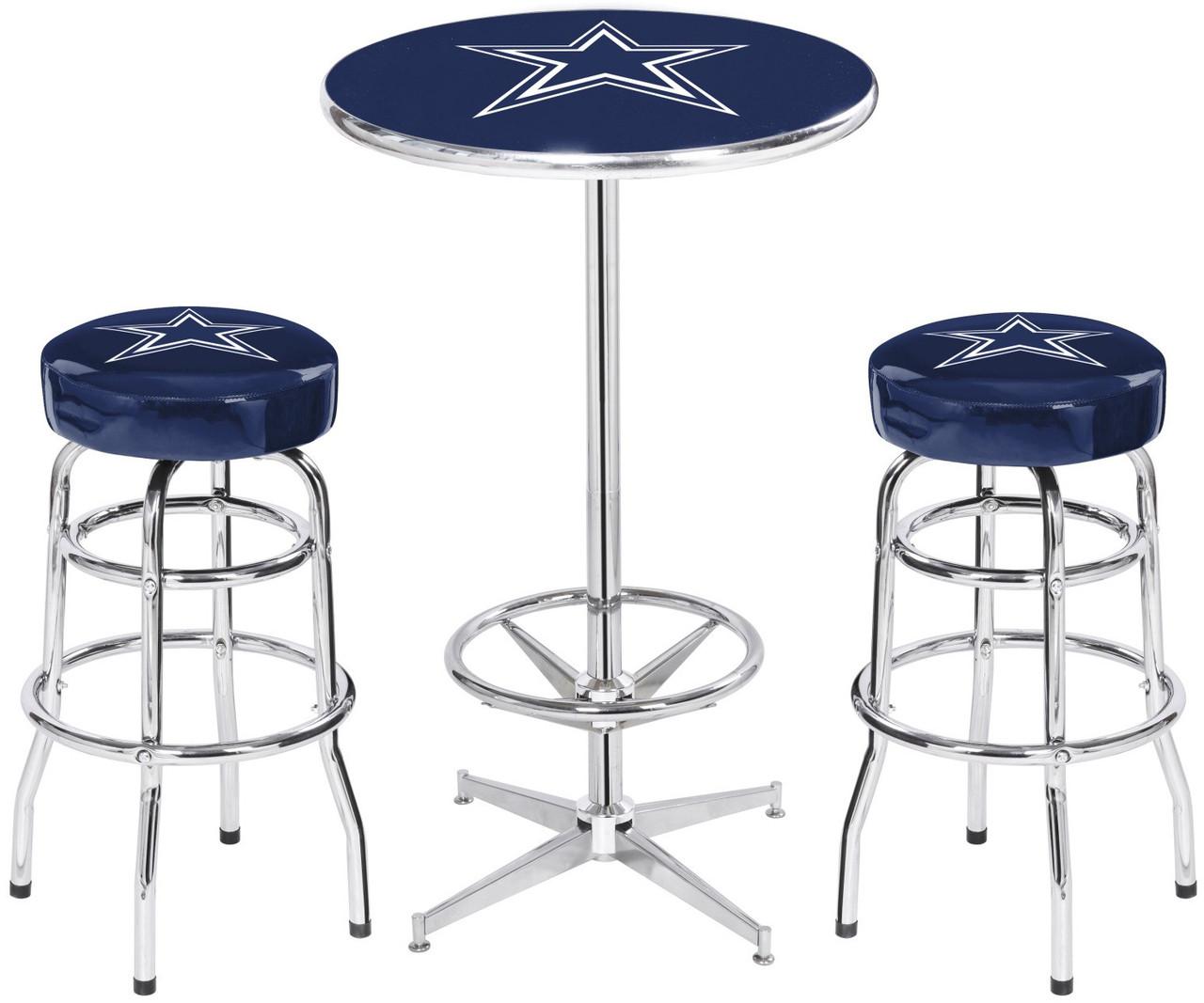 Dallas cowboys heavy duty 3 piece pub set cb furniture dallas cowboys heavy duty 3 piece pub set watchthetrailerfo