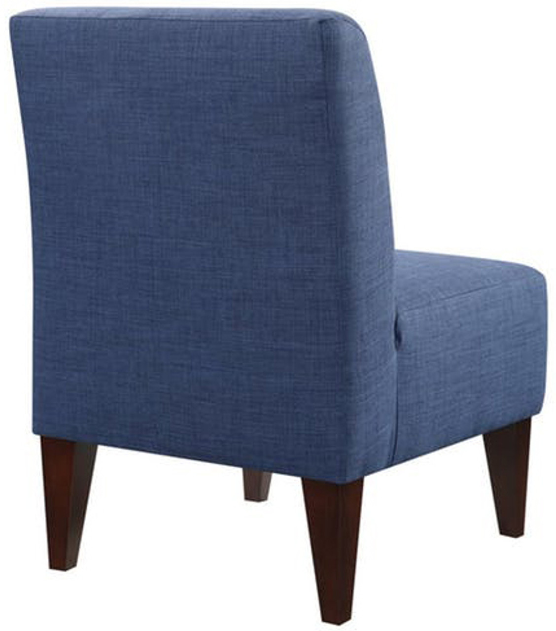 ... Amie Dark Blue Accent Chair