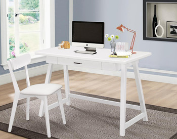 Alec White 2-PC Writing Desk With Chair