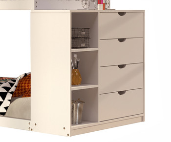 Giani White Twin/Twin Bunkbed With Chest
