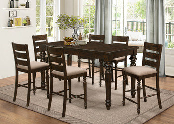 Caleb 7 Pc Counter Dining Set