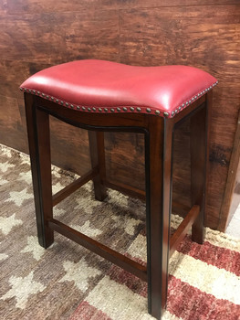 Lucas Red Counter Stool