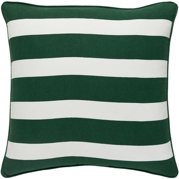 Designer Green Stripe Pillow