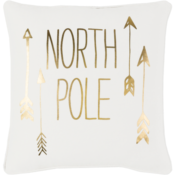 Designer North Pole Throw Pillow