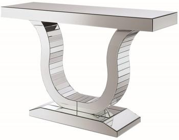 Mirrored U-Shaped Sofa Table/Console
