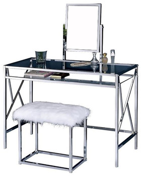 Teresina Chrome Vanity with Stool