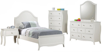 Ayliana White 6-PC Bedroom Set