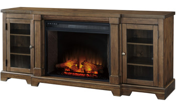 "Belton 75"" Wide TV Stand with Fireplace"