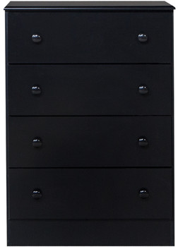 Coepto Black 4 Drawer Chest