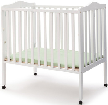 Portababy White Crib with Mattress