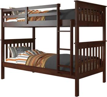 Derik Dark Brown Twin Bunk Bed